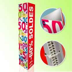 Lot de 50 Totems Triple 120 x 80 cm