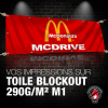 Toile blockout 290 g M1